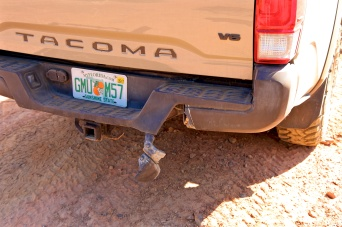 Tyler did some bumper damage on his Tacoma on this trail