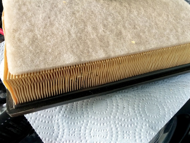 The air filter. No traces of red dirt noticeable.