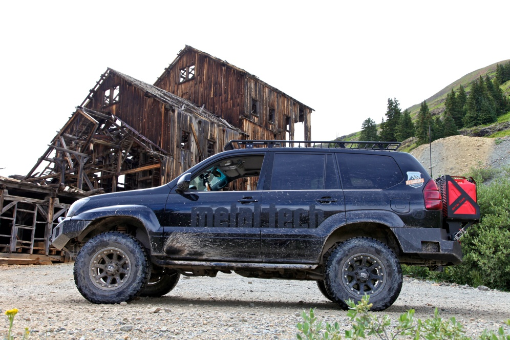 Metaltech 4x4 GX470 at a ghost town.
